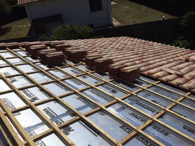 isolation du toit par l 39 ext rieur saint paul l s dax landes 40 ld sud ouest isolation. Black Bedroom Furniture Sets. Home Design Ideas